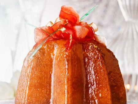 Hefekuchen mit Limoncello getränkt