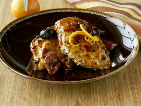 Honig-Hähnchenbrust mit Trockenobst