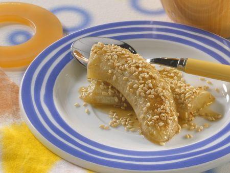 Honig-Sesam-Bananen