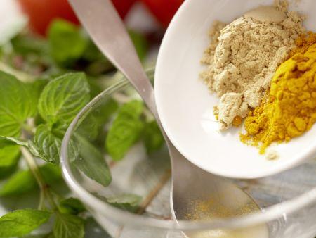 Indisches Auberginenragout: Zubereitungsschritt 3