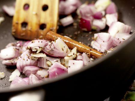 Indisches Auberginenragout: Zubereitungsschritt 6