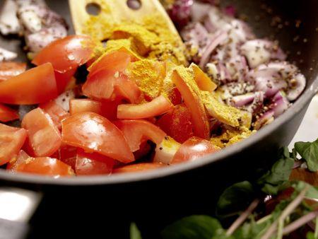 Indisches Auberginenragout: Zubereitungsschritt 7