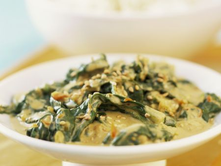 Indisches Spinat-Joghurt-Curry