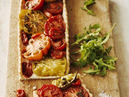 Tomatentarte aus Italien (Crostata al pomodoro)