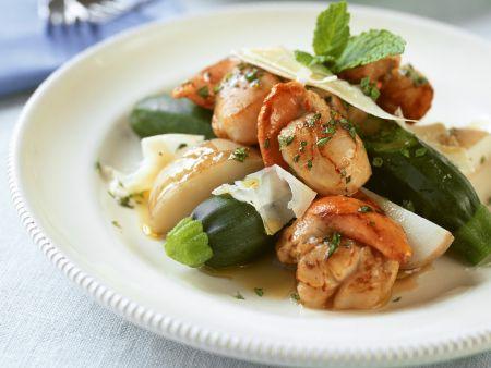 Jakobsmuscheln mit Zucchini