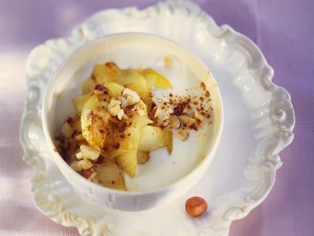 Joghurt mit gebratenem Appfel