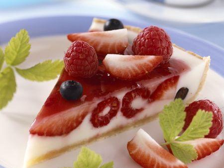 Joghurtkuchen mit Beeren