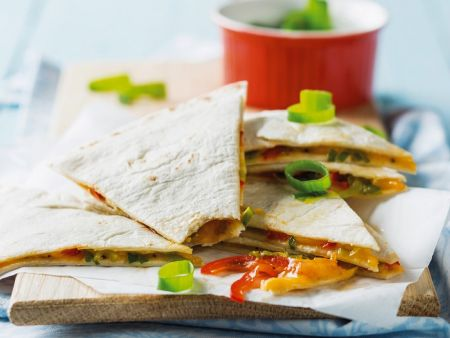 Käse-Tortillafladen aus der Mikrowelle