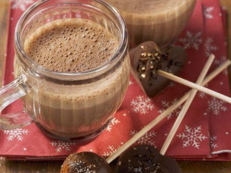 Kakao mit Schoko-Lolli