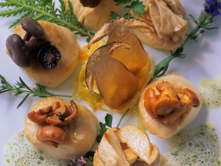 Kalb mit Pilzen