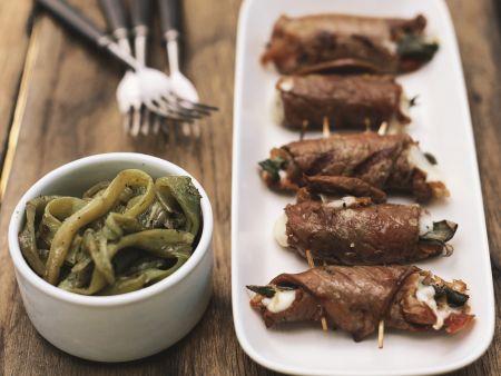 Kalbfleischröllchen mit Käsefüllung