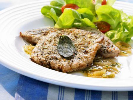 Kalbsschnitzel auf griechische Art