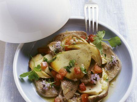 Kalbszunge mit Pilzsalat
