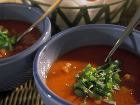 Kalte Tomatensuppe