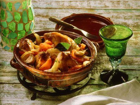 Kaninchen-Gemüseragout