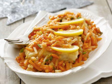 Karpfen-Gemüse-Pfanne