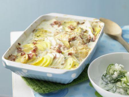 Kartoffel-Kohlrabi-Auflauf