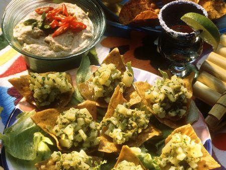 Kartoffel-Olivensalat mit Tacos