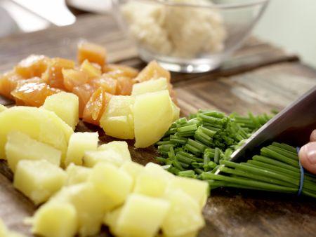 Kartoffel-Räucherlachs-Pfanne: Zubereitungsschritt 4