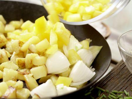 Kartoffel-Räucherlachs-Pfanne: Zubereitungsschritt 6