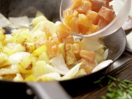 Kartoffel-Räucherlachs-Pfanne: Zubereitungsschritt 7