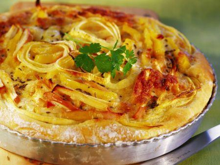 Kartoffel-Zwiebel-Tarte mit Äpfeln