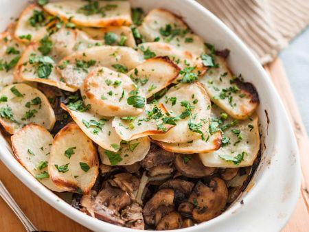 Kartoffelauflauf mit Pilzen