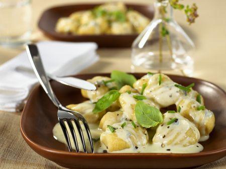 Kartoffelgnocchi mit Gorgonzolasoße