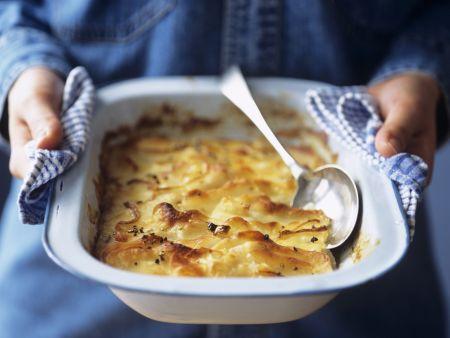 Kartoffelgratin auf französische Art (Pommes dauphinoises)
