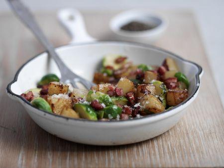 Kartoffeln mit Gemüse auf englische Art