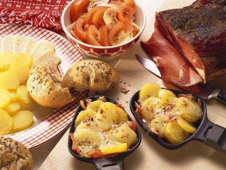 Kartoffeln mit Munster überbacken