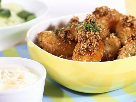 Kartoffeln mit Nusskruste dazu Meerrettichdip