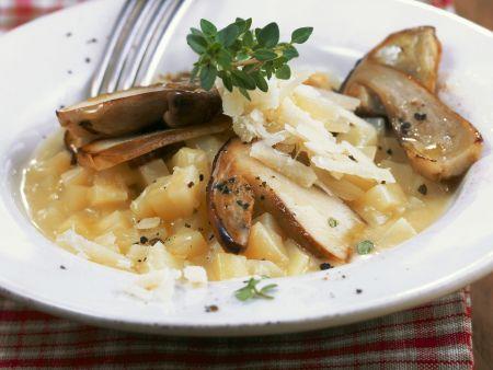 Kartoffelrisotto mit Steinpilzen