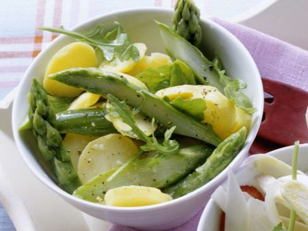 Rezept: Kartoffelsalat mit Spargel