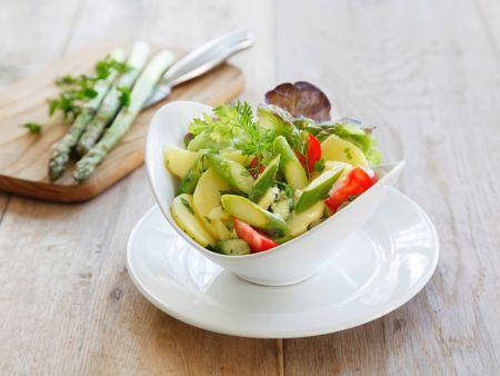 Kartoffelsalat mit Spargel