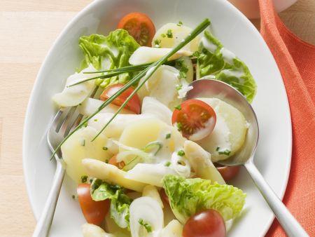 Kartoffelsalat mit Spargel und Mayo-Dressing