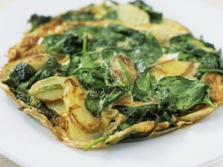 Kartoffeltortilla mit Spinat