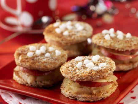 Keks-Häppchen mit Apfelfüllung
