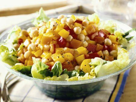 Kichererbsen-Salat mit Paprika