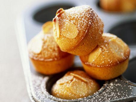 Kleine Muffins mit Mandelblättchen