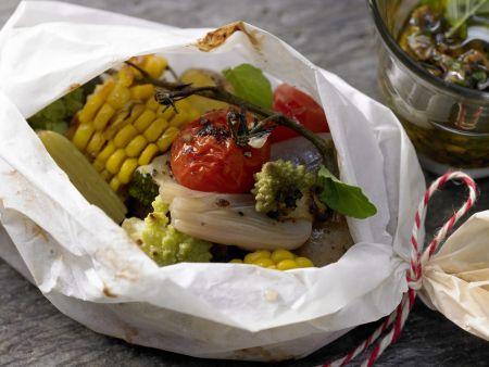 Knackiges Gemüse aus dem Pergament