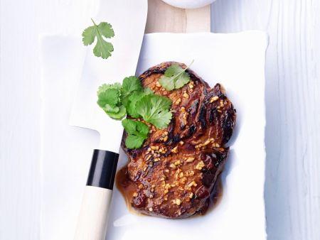 knoblauch steak rezept eat smarter. Black Bedroom Furniture Sets. Home Design Ideas