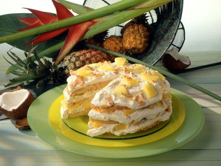 kokos ananas torte rezept eat smarter. Black Bedroom Furniture Sets. Home Design Ideas