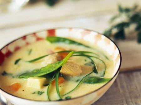 Kokos-Hähnchen-Suppe