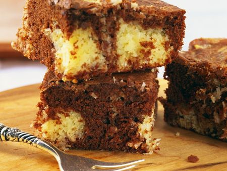 Kokos-Schokoladenkuchenschnitten