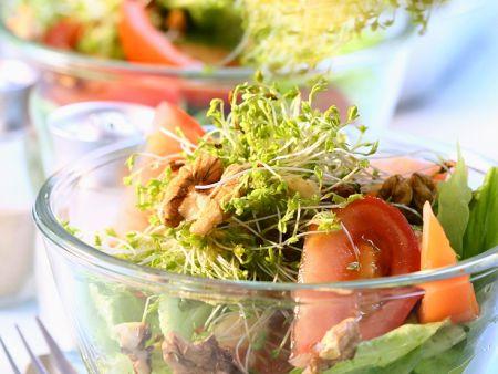 Kopfsalat mit Tomaten