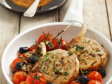 Koteletts mit Tomaten