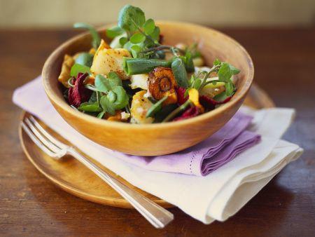 Kressesalat mit Gemüse