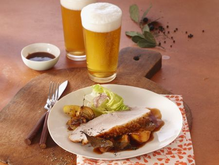 Krustenbraten in Biersoße