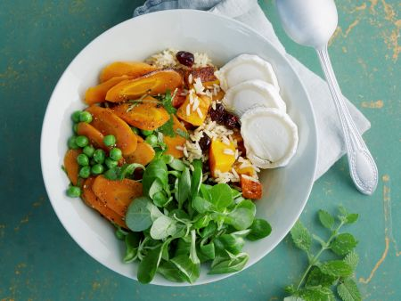 Kürbis-Bowl mit Reis